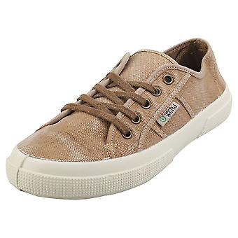 Natural World Old Blossom Womens Casual Trainers in Beige