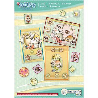 Marij Rahder Mouse Party! 2 3D Cards A5 (3 cards) (9.0089)