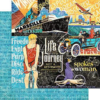 Graphic 45 Life's a Journey 12x12 Inch Paper Pack