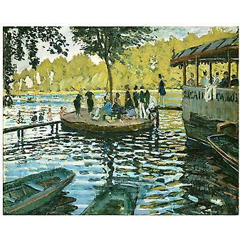 Kunstdruck auf Leinwand - La Grenouillère Claude Monet - Wanddeko, Canvas
