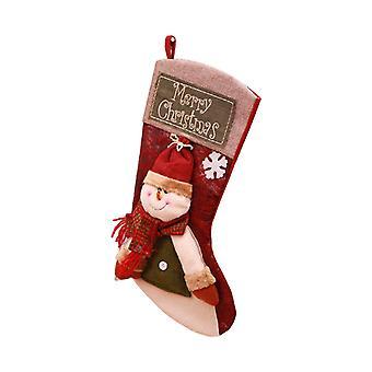 17Inch Christmas Strømper Snømann Hengende Ornament