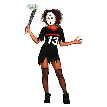 Sexy hockey killer kostyme for damer Halloween horror sportswoman Ms. Jason