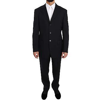 Z Zegna Dark Blue Two Piece 3 Button Wool Suit KOS1413-54