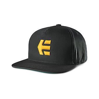 Etnies Iconback Cap in Black/Yellow