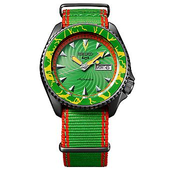 Seiko 5 Sports Street Fighter Blanka Green Dial Green Strap Automatic SRPF23K1
