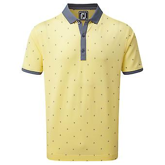 Footjoy Mens Birdseye Argyle Print Wicking Golf Polo Shirt