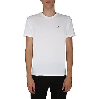 C.p. Firma 09cmts192a005100w103 Männer's weiße Baumwolle T-shirt