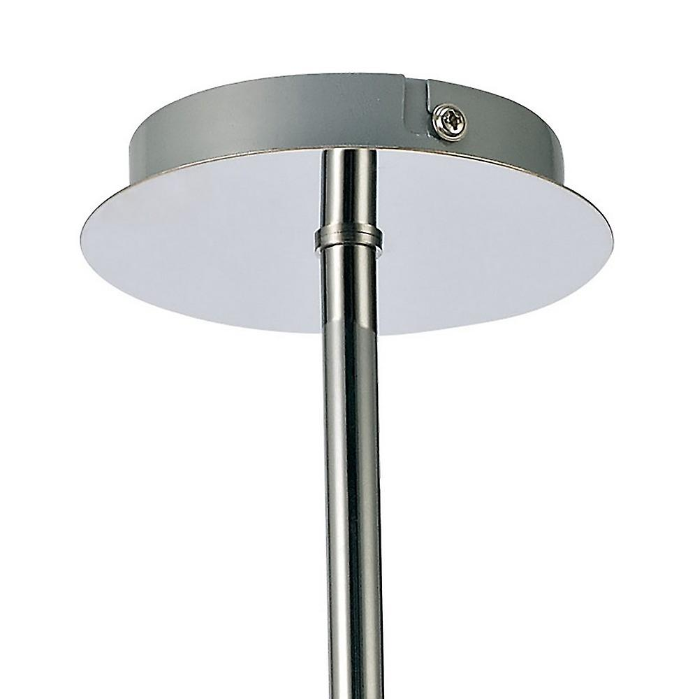 Inspired Deco - Avalon - Ceiling 5 Light G9 Ceiling Pendant, Semi Ceiling, Polished Chrome with Clear Prismatic Glass