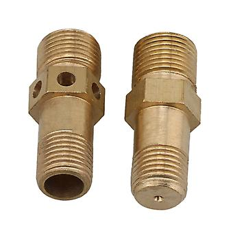 2pcs 12mm/10mm Gold Cooker Nozzles Copper Burner Jet
