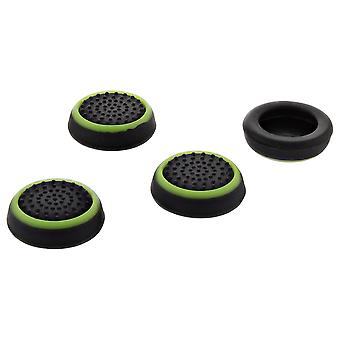 Thumb grips for ps4 sony controller dotted stick cover grip caps - 4 pack green & black | zedlabz
