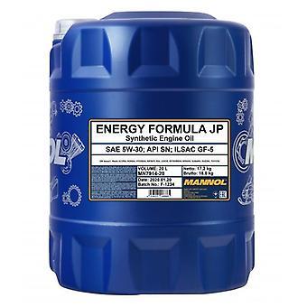 Mannol 20L Engine Oil Energy Formula JP 5W-30 API SN ILSAC GF-5 GM dexos 1