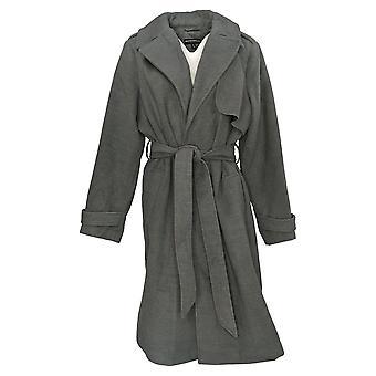 BROOKE SHIELDS Timeless Women's Plus Timeless Faux Wool Coat Gray A342898