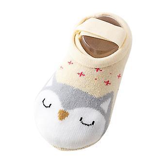 Boot Socken Baumwollboden, Socken süße Cartoon-Design, Anti-Rutsch für Baby-Mädchen