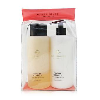 Glasshouse Forever Florence (Wild Peonies & Lily) Body Duo : Shower Gel + Body Lotion 2x400ml/13.52oz