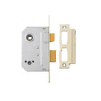 Yale PM236 Bathroom 2 Lever Sash Lock 64mm 2.5in Polished Chrome
