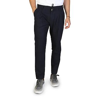 Armani scambia men's button zip fissaggio pantaloni in cotone