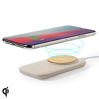 Wireless Charger Qi with USB Socket Bamboo WheatAx Abs