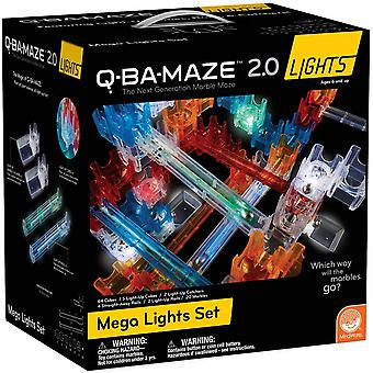 Mindware q-ba-maze - marble run building set - mega light-up set