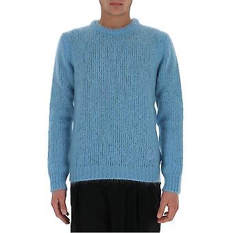 Gucci 634572xkbj14465 Men's Light Blue Wool Sweater