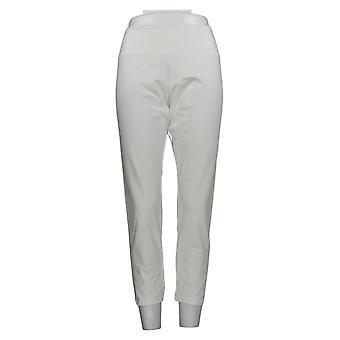 Vrouwen met Control Women's Petite Slim Leg Ankle Pants White A286521