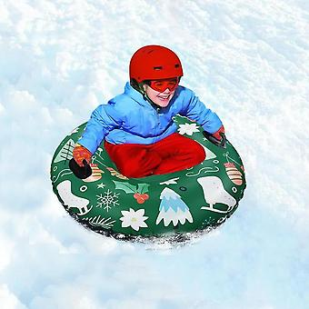 Floated Skiing Board, Winter Inflatable Ski Circle With Handle Durable Adult
