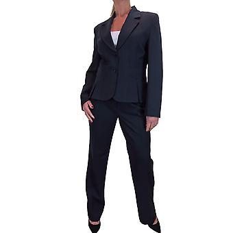 Women's 2 Piece Business Work Office Wide Leg Trouser Suit Blazer Jacket Ladies 14-22
