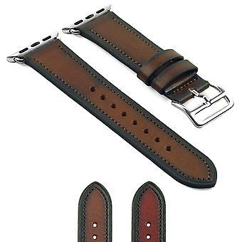 Strapsco dassari vintage læderrem til æbleur m / hermes stil spænde