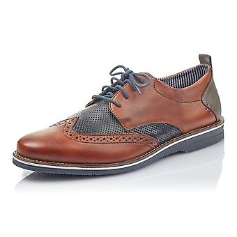 Rieker 12532-24 Bastia Men's Smart Lace-up Shoes In Brown