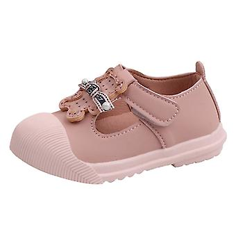 Children's Princess/cute Cartoon Soft Sole Solid, Pearl Princess Läderskor