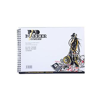 Professional Marker Paper/spiral Sketch Notepad Book Painting Drawing Artist