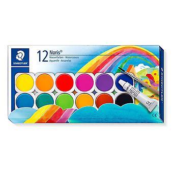 Staedtler 888o †nc12o †'†colours de agua, caja con paquete de 12 1 farbkasten 12 farben