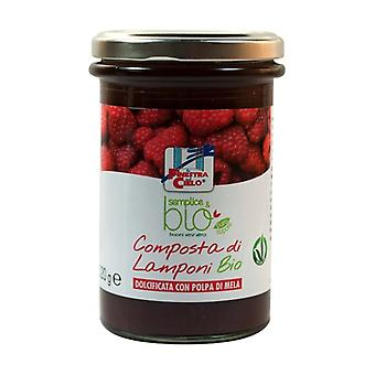 Simple & organic raspberry compote (with apple pulp) None