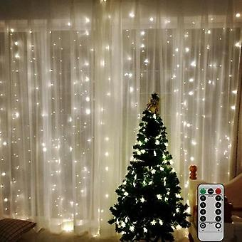 Led Curtain Lamp Usb String Lights Remote Control Fairy Light