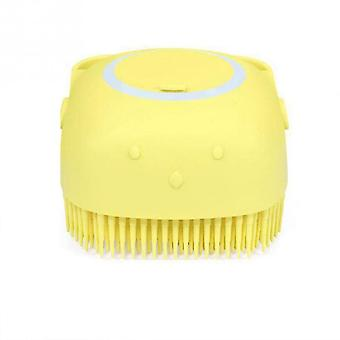 Bath Brush Comb, Pet Spa Massage Soft Silicone Material, Hair Combing Cleaning