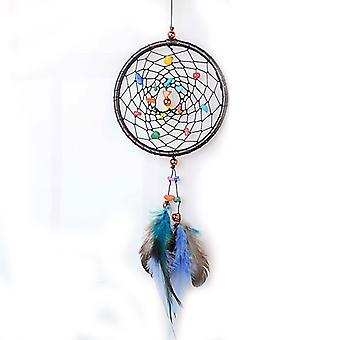 Creative Leather Dream Catcher Wall Hanging Art Decorative Tool Wind Chimes
