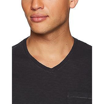 Goodthreads Men's Leggero Slub V-Collo Pocket T-Shirt, -rust, Medium