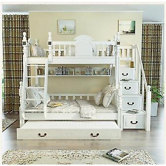 Kids Bedroom White Furniture Triple Bunk Bed