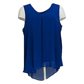 Lisa Rinna Collection Women's Top Solid Sleeveless Tank Blue A385267