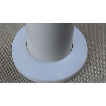 Douche de couverture de conduit de trou de mur en plastique, pipe de valve d'angle de robinet
