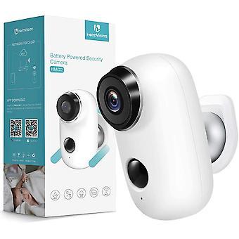 Caméra de sécurité sans fil Heimvision HMD2 Rechargeable Battery-Powered, Vidéo 1080P avec audio 2 voies, vision nocturne, imperméabilisation à la maison à l'intérieur / extérieur caméras WiFi avec service cloud