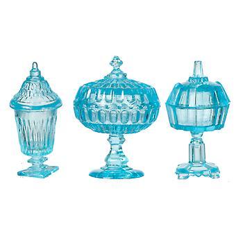 Puppen Haus blau Süßigkeiten Gerichte Chrysnbon Miniatur Ornamente