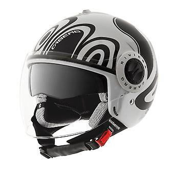 Caberg Riviera V2 Wave Open Face Helm Matt Black White ACU Gold Goedgekeurde XS