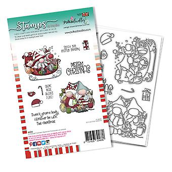 Polkadoodles Sleigh the Season Clear Stamps