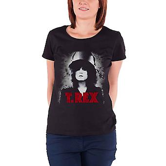 T Rex  T Shirt The Slider Marc Bolan T.rex Official Womens Skinny Fit Black