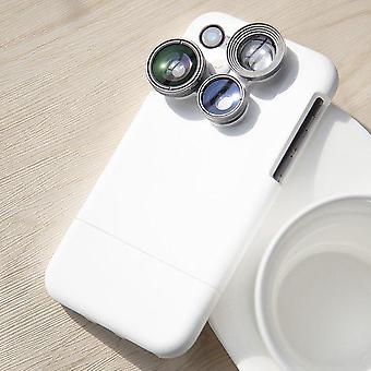 Caixa de iphone de lente de câmera 4 em 1