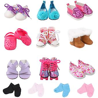 ebuddy Doll Accessories Include 9 Pairs Doll Shoes+2 Pairs Random Color Doll