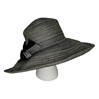 Physician Endorsed Savannah Bow Sunhat Beige/Black Hat A289214