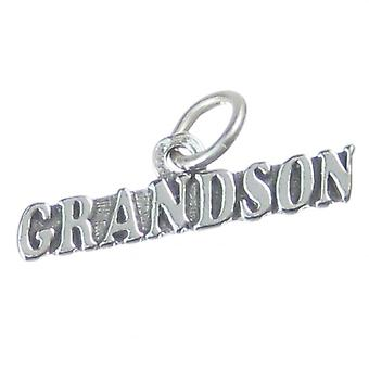 Grandson Sterling Silver Charm .925 X 1 Grandsons Family Charms - 4054