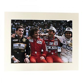 Larrini Four Amigos At Estoril  A4 Mounted Photo