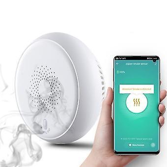 Senzor detektora dymu, domáca bezpečnosť, poplachový systém a aplikácia Smart Life